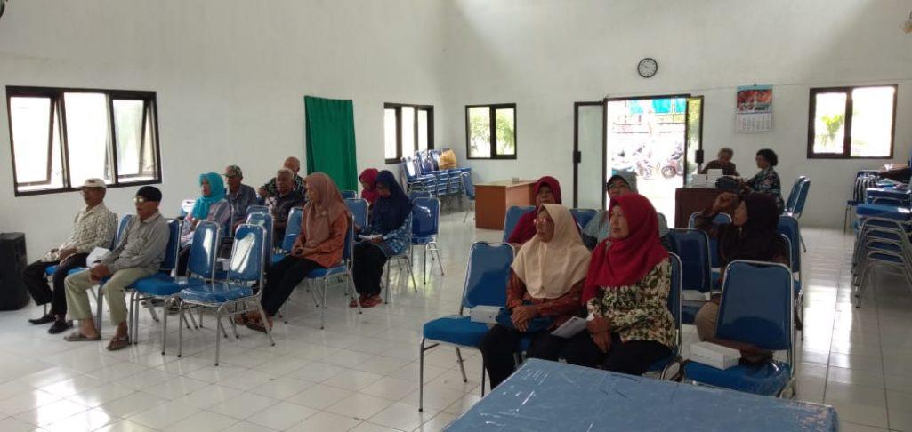 Pertemuan Rutin Lansia Kelurahan Tawangrejo