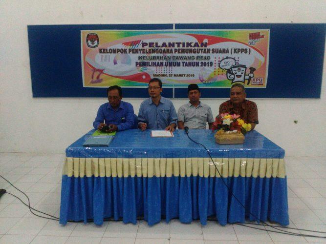 PPS Kelurahan Tawangrejo Lakukan Pelantikan KPPS