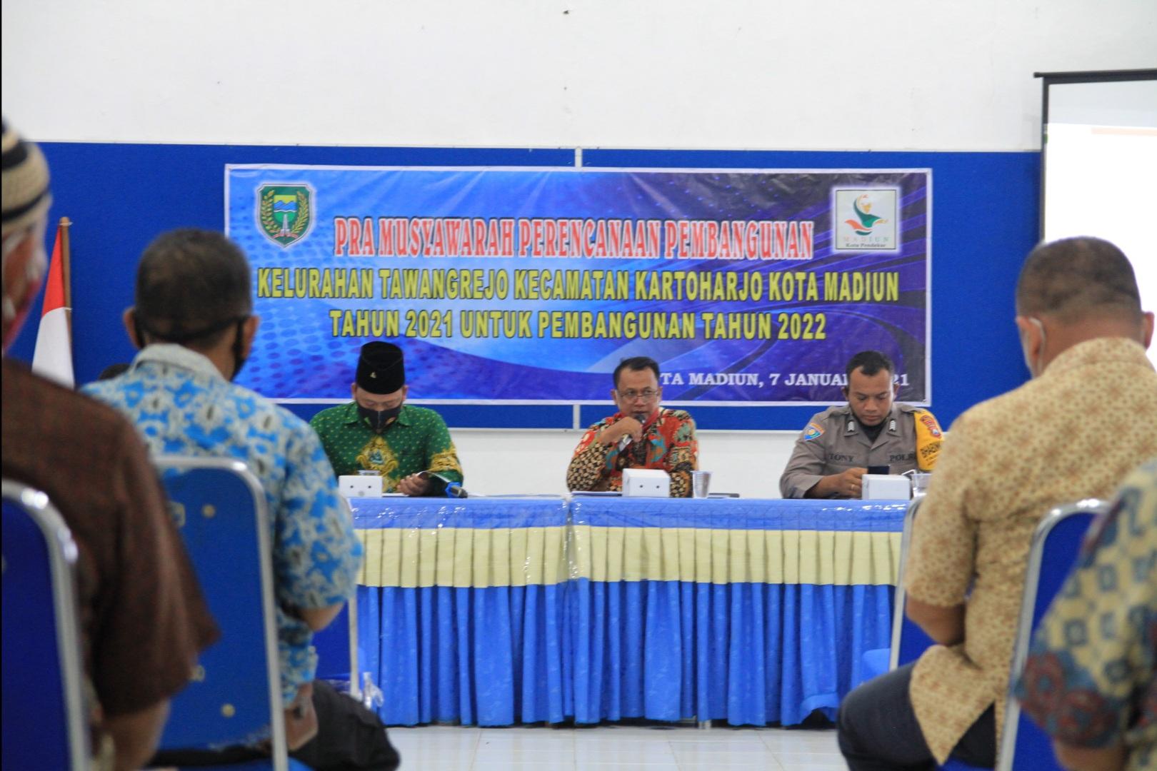 Pra Musyawarah Perencanaan Pembangunan Kelurahan Tawangrejo Untuk Tahun 2022